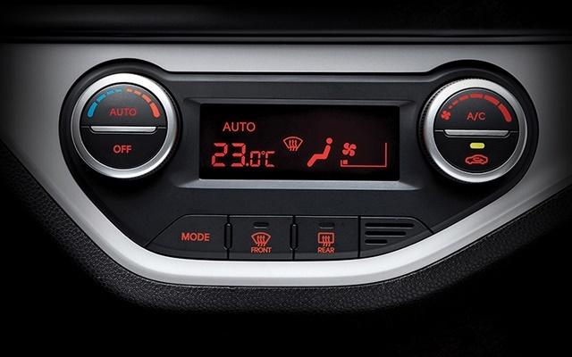 Kia Morning trang bị hệ thống điều hòa tự động