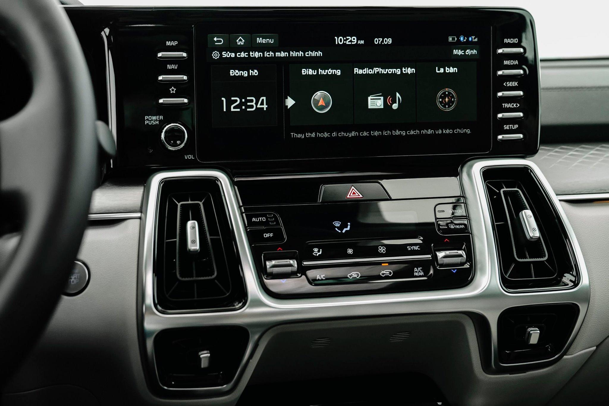 KIA SORENTO 2021 trang bị màn hình 10.25 inch