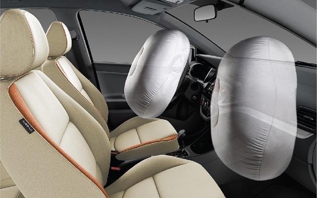 Kia Morning trang bị 2 túi khí an toàn cho người sử dụng