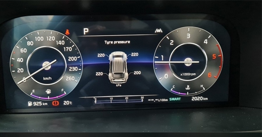 Cảm biến áp suất lốp trên Kia sorento all new 2021