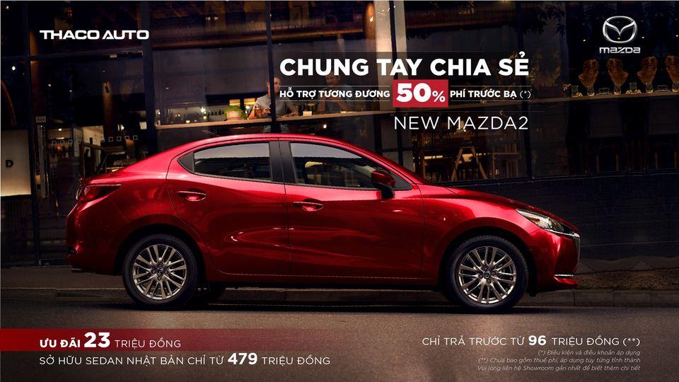 Mazda 2 ưu đãi đến 23 triệu đồng tại Mazda Gò Vấp