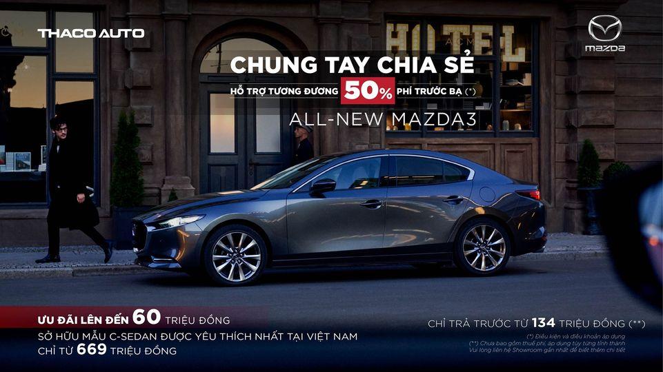 Mazda 3 ưu đãi lên đến 60 triệu đồng tại Mazda Gò Vấp