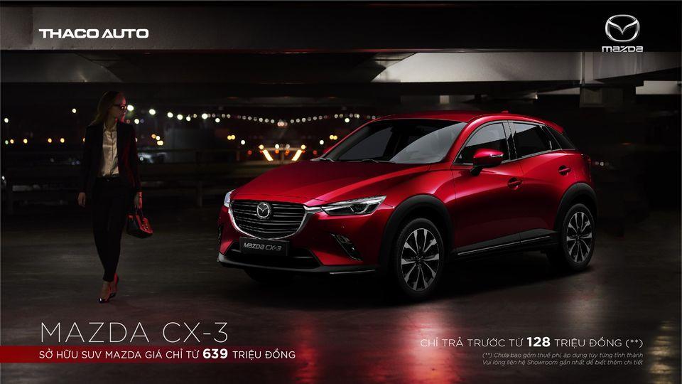 Mazda CX3 ưu đãi  trả trước 128 triệu đồng tại Mazda Gò Vấp